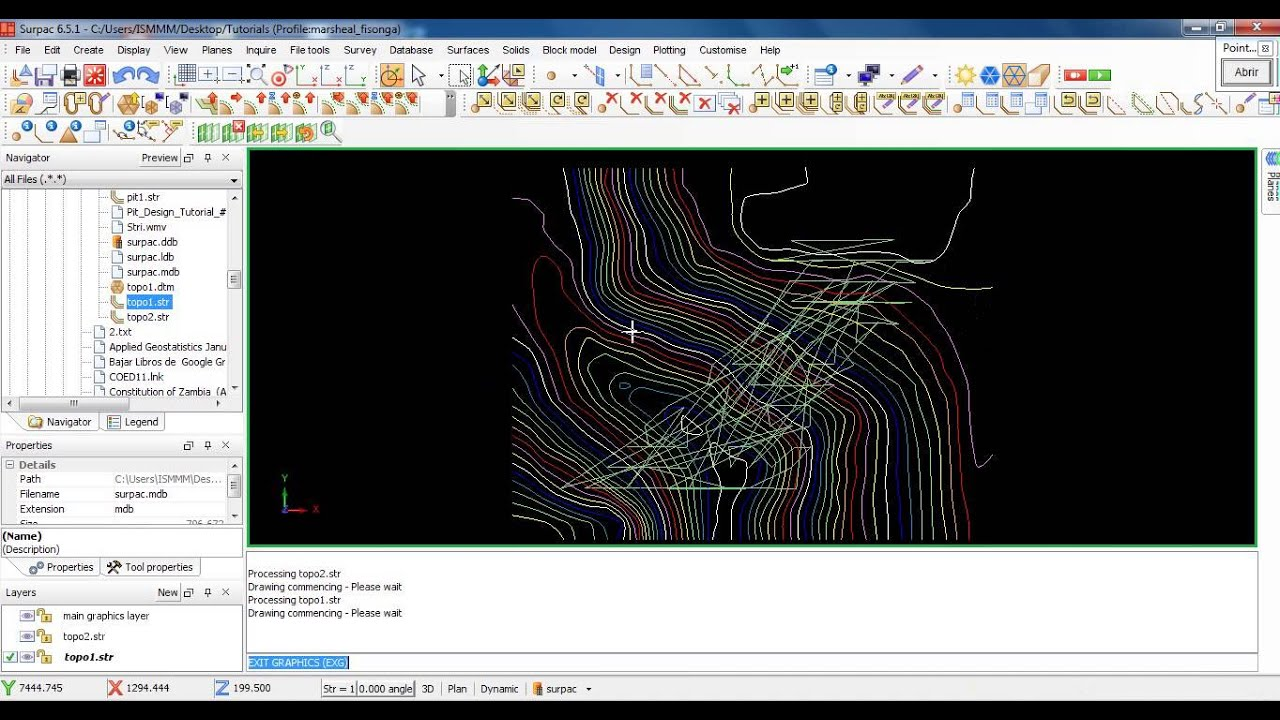 surpac 6 5 1 tutorial 2 topographic map creation ore waste and rh youtube com Surpac Mining Software Surpac Tutorial PDF