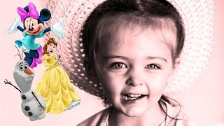 Disney Princess Tea Party with Emily! Olaf, Belle, Minnie Mouse - Kinder Playtime