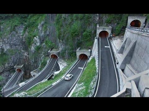 Amazing San Boldo Mountain Pass in Italy