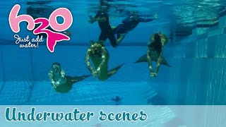 behind the scenes underwater scenes h2o just add water official fan channel