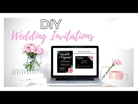 DIY Wedding Invitations!!!! How to Make Your Own Wedding Invitations from home!