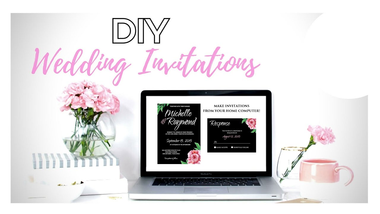 How To Make Your Own Wedding Invitations From Home