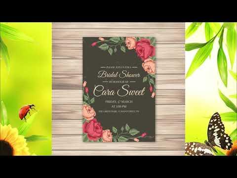 Шаблоны приглашений на свадьбу - Красивые свадебные приглашения