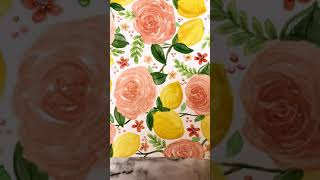 My rose and frขit pattern collection| How to make patterns#youtubeshorts#shorts#youtubeshorts#short