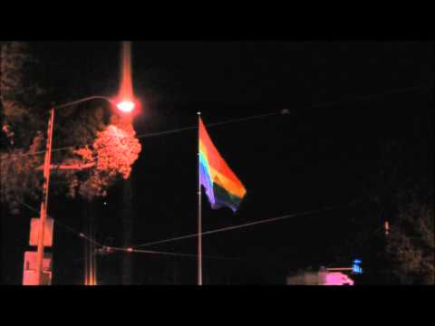 Rainbow Flag of Castro St.-Night time