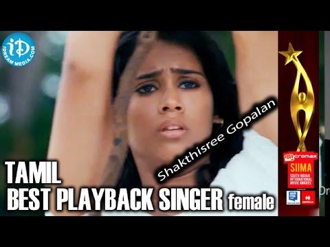 SIIMA 2014 Tamil Best Playback Singer Female - Shakthisree Gopalan | Nenjukulle Song | Kadal