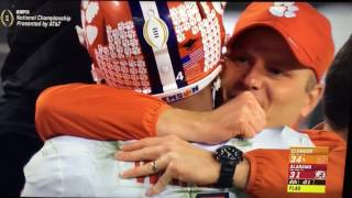 DeShaun Watson to Hunter Renfrow winning touchdown 2017 National Championship