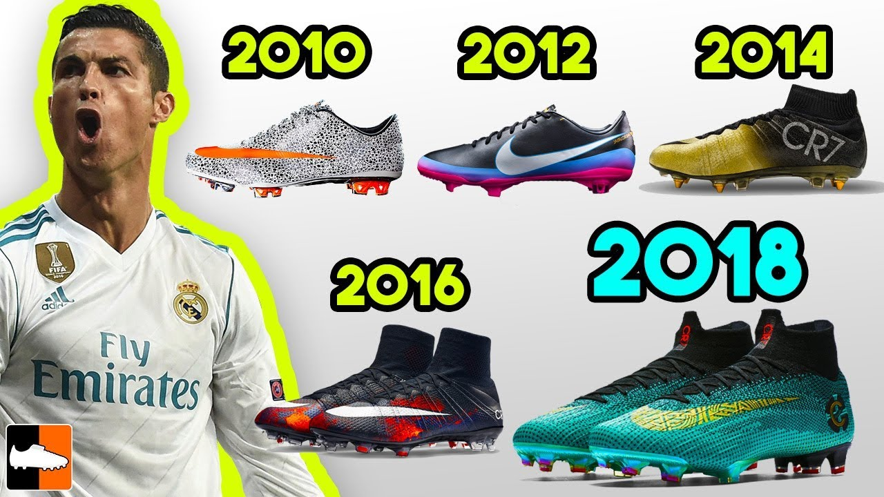 92a5ae91b8c6 Ronaldo's New Boots & Every Signature Cleat He Has Worn Ever!! - YouTube