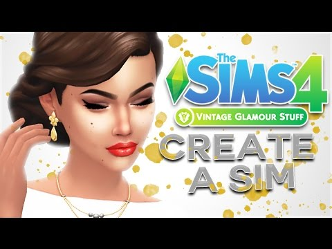 The Sims 4: Vintage Glamour Stuff || CAS OVERVIEW ||