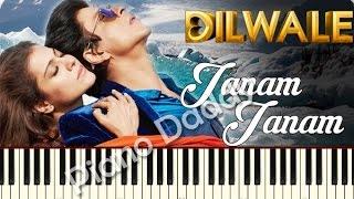 Janam Janam (Dilwale) Piano Tutorial | Notes | Sheet Music ~ Piano Daddy
