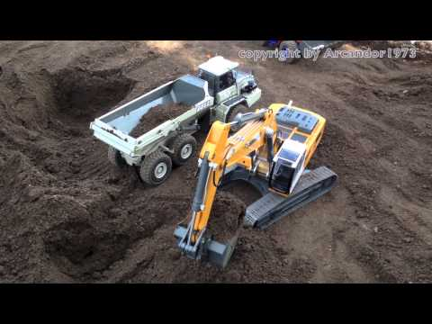Best of RC Excavator Liebherr in Action - Big RC Fun!