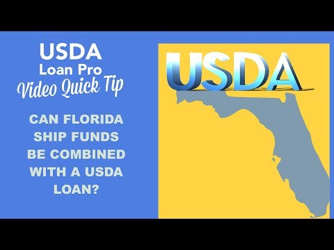 Can Florida SHIP Funds be combined with a USDA loan?