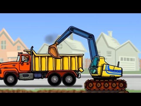 เกมส์ รถแมคโคร รถตักดิน รถเครน ตักดินใส่ รถบรรทุก - Dump Truck