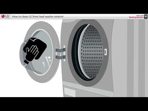 [LG Front Load Washer] - How to clean washer exterior