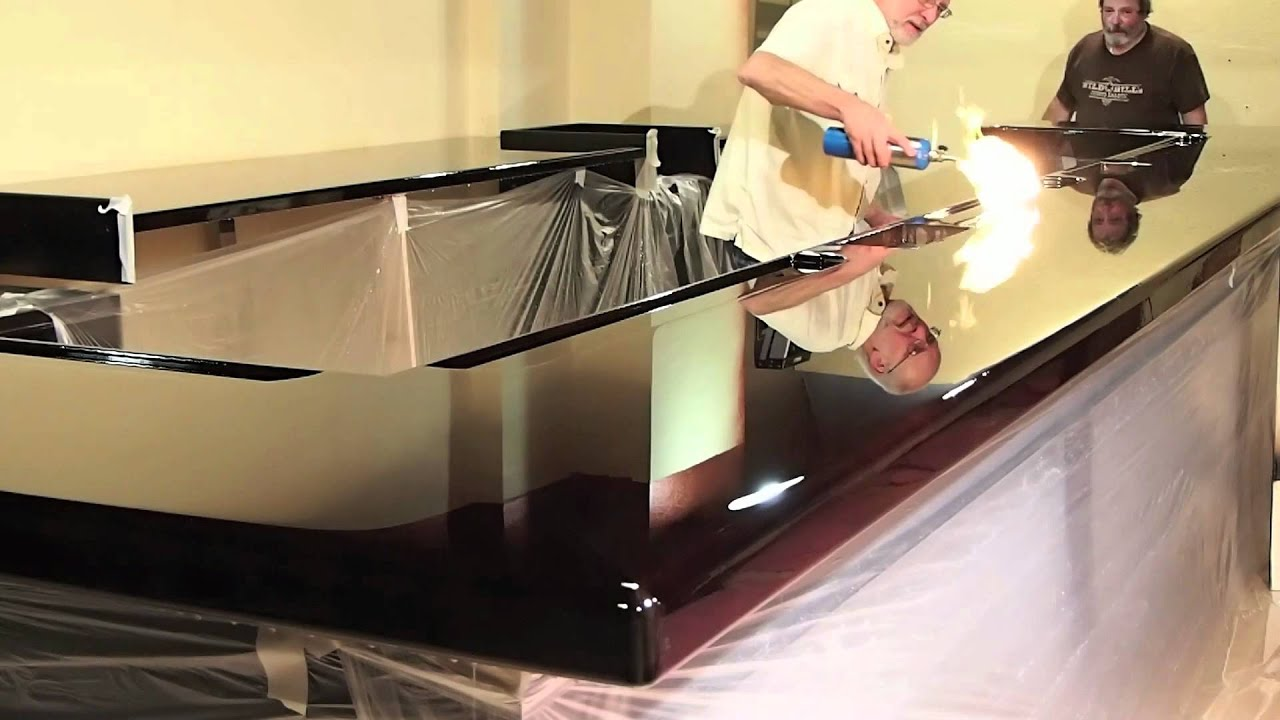Use Torch To Get A Perfect Resin Poured Counter Top   YouTube