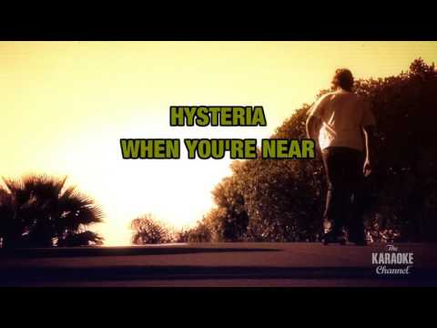 Hysteria in the style of Def Leppard | Karaoke with Lyrics