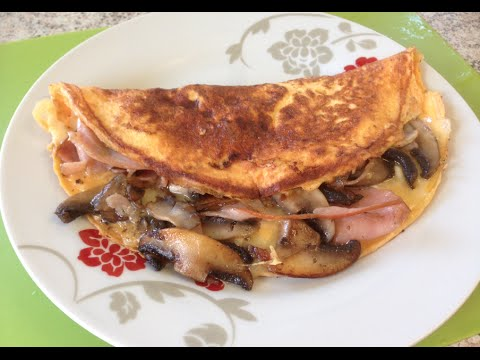 How do i make a ham and mushroom omelette
