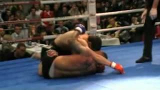 2de MMA partij van Mr 1 leg van Hove Franky