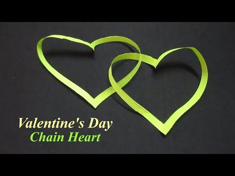 DIY How To make Paper Chain Heart Valentines Day Gift Idea