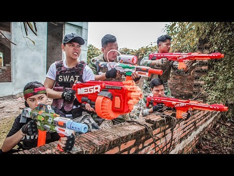 LTT Nerf War : Police patrol SEAL X Warriors Nerf Guns Fight