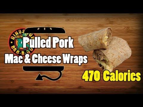 Dinosaur BBQ Pulled Pork Mac & Cheese Wraps Recipe - HellthyJunkFood