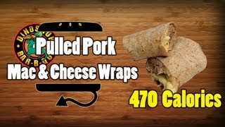 Dinosaur Bbq Pulled Pork Mac & Cheese Wraps Recipe - Hellthyjunkfood