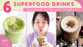 6 Simple + Antioxidant Rich Drinks for Clear Skin & Healthy Body