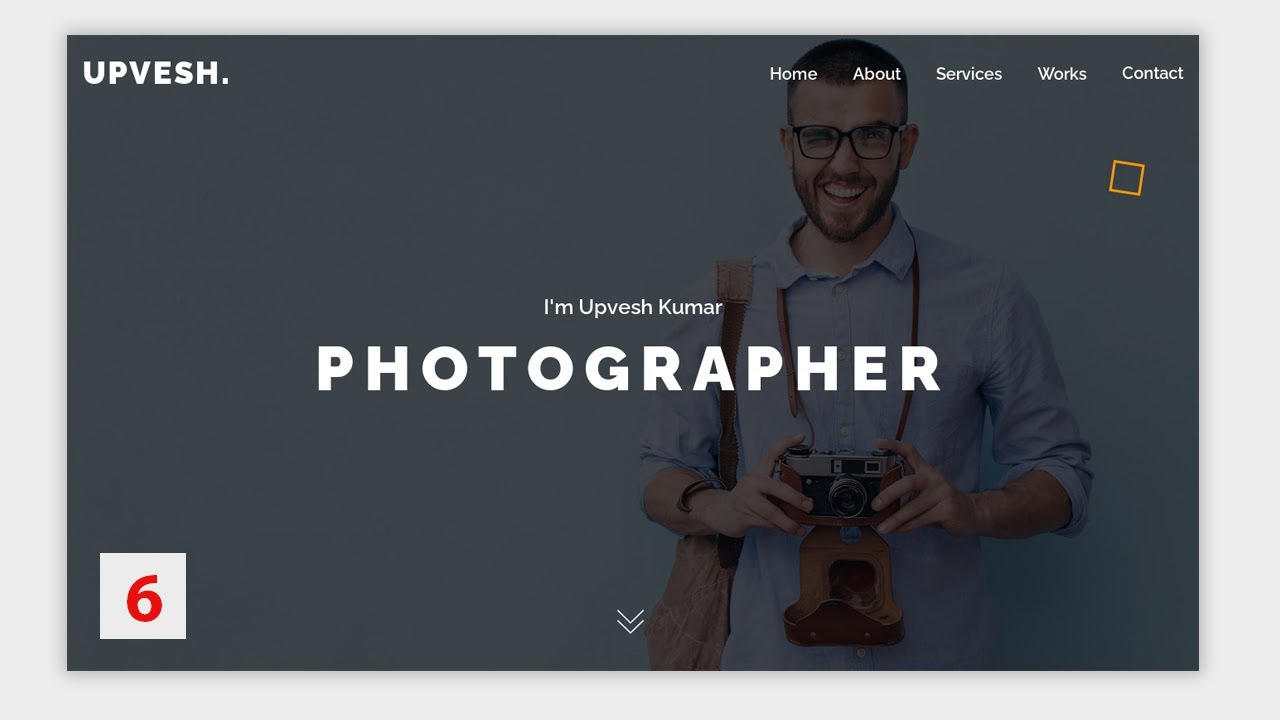 Photography Complete Website using Html Css Jquery