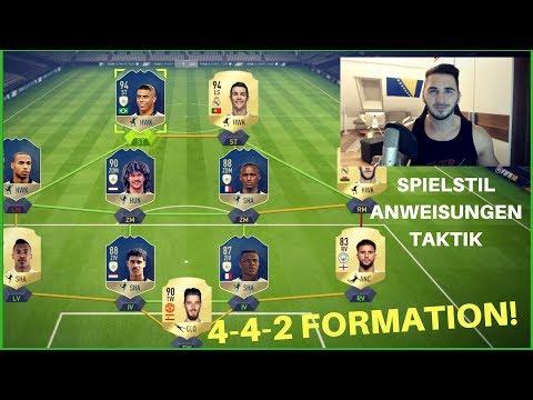 4-4-2 FORMATION IM DETAIL   SPIELSTIL, ANWEISUNGEN & TAKTIK!   FIFA 18 ULTIMATE TEAM