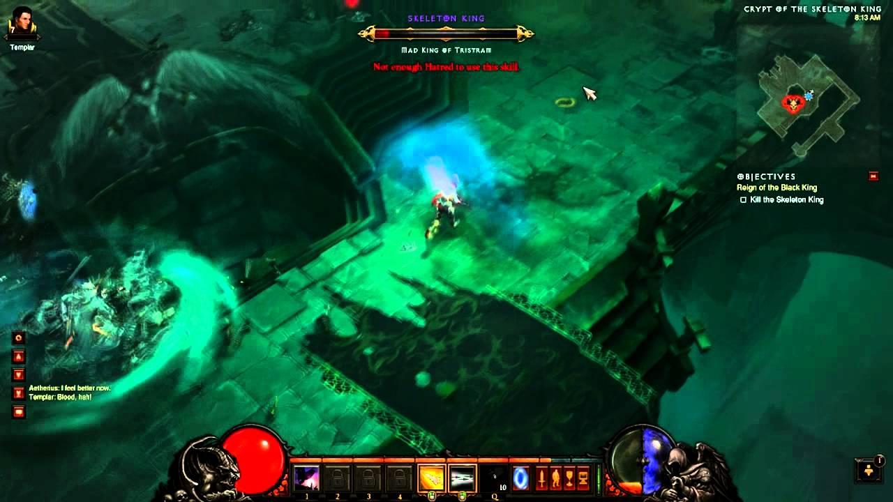 Diablo 3 Beta Patch 12: Monk,24s Skeleton King Kill (no