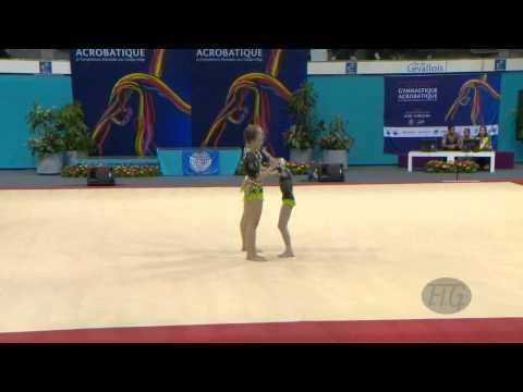 RUSSIA Women's Groups - Dynamic Qualifications  -- 2014 Acrobatic Worlds, Levallois-Paris (FRA)