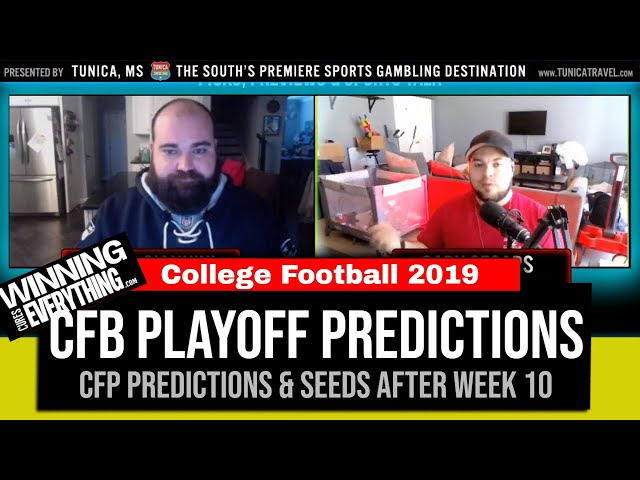 WCE: 2019 College Football Playoff Predictions (after Week 10)