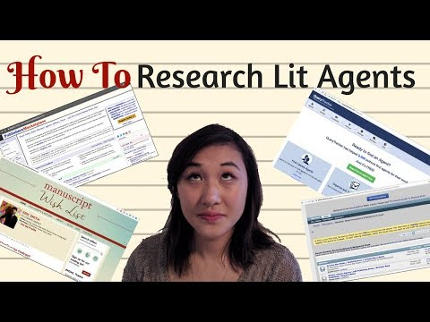 Researching Literary Agents