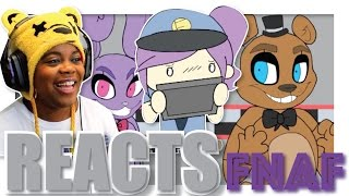 FNAF Animated Short with iHasCupquake | Jaiden Animations Reaction | AyChristene Reacts