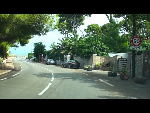Driving Through Cap d'Antibes