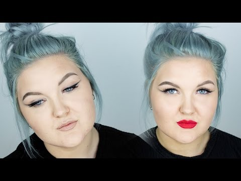 FESTIVE MAKEUP // SMOKEY LINER W. TWO DIFFERENT LIP COLOURS