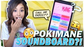 POKI REACTS TO POKIMANE SOUNDBOARD?! Fortnite Victory Ft. Cizzorz!