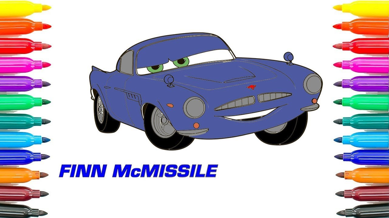 How To Coloring Disney Pixar Cars 2 Finn Mcmissile Coloring Pages