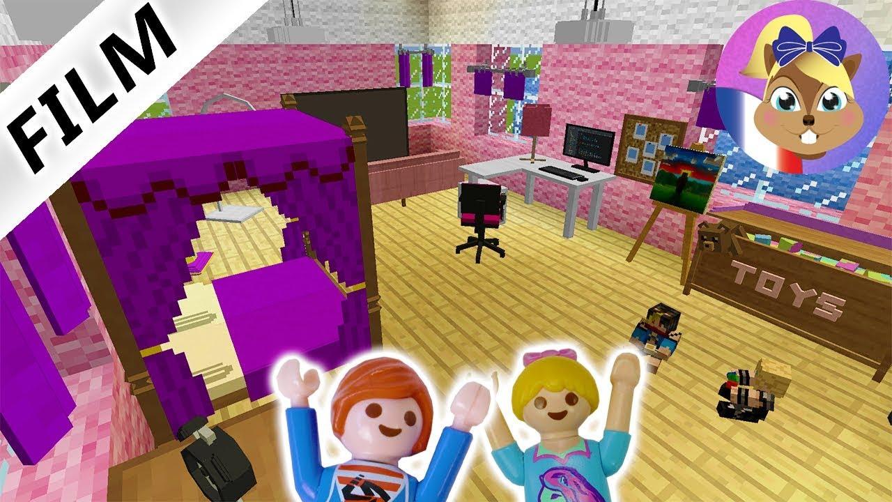 julian construit une chambre de fille minecraft hannah commente film playmobil en fran ais. Black Bedroom Furniture Sets. Home Design Ideas