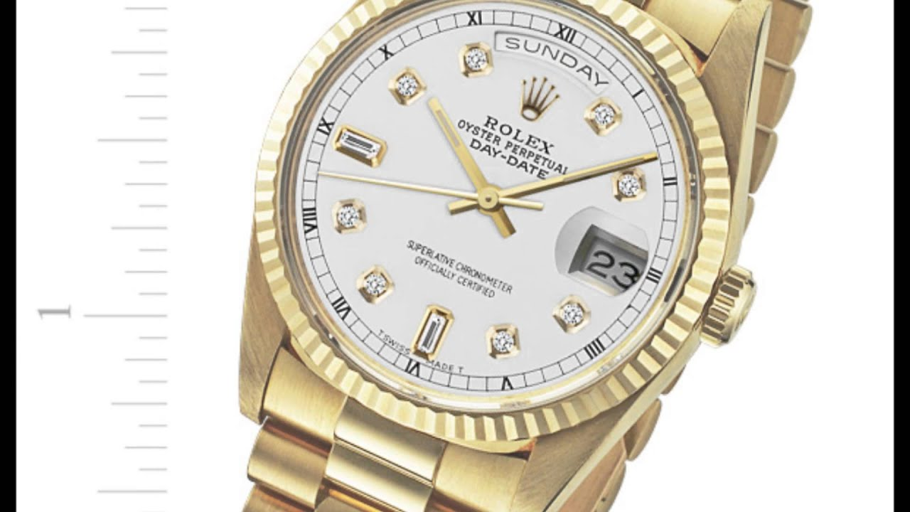 presidential watches ct day excellent rolex gold watch diamond date yellow