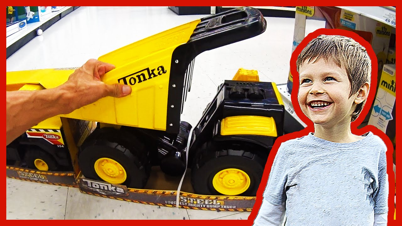 "Tonka Toy Trucks >> Tonka Toy Dump Truck At Toys""R""Us - Toy Truck Hunt Day 4 - YouTube"