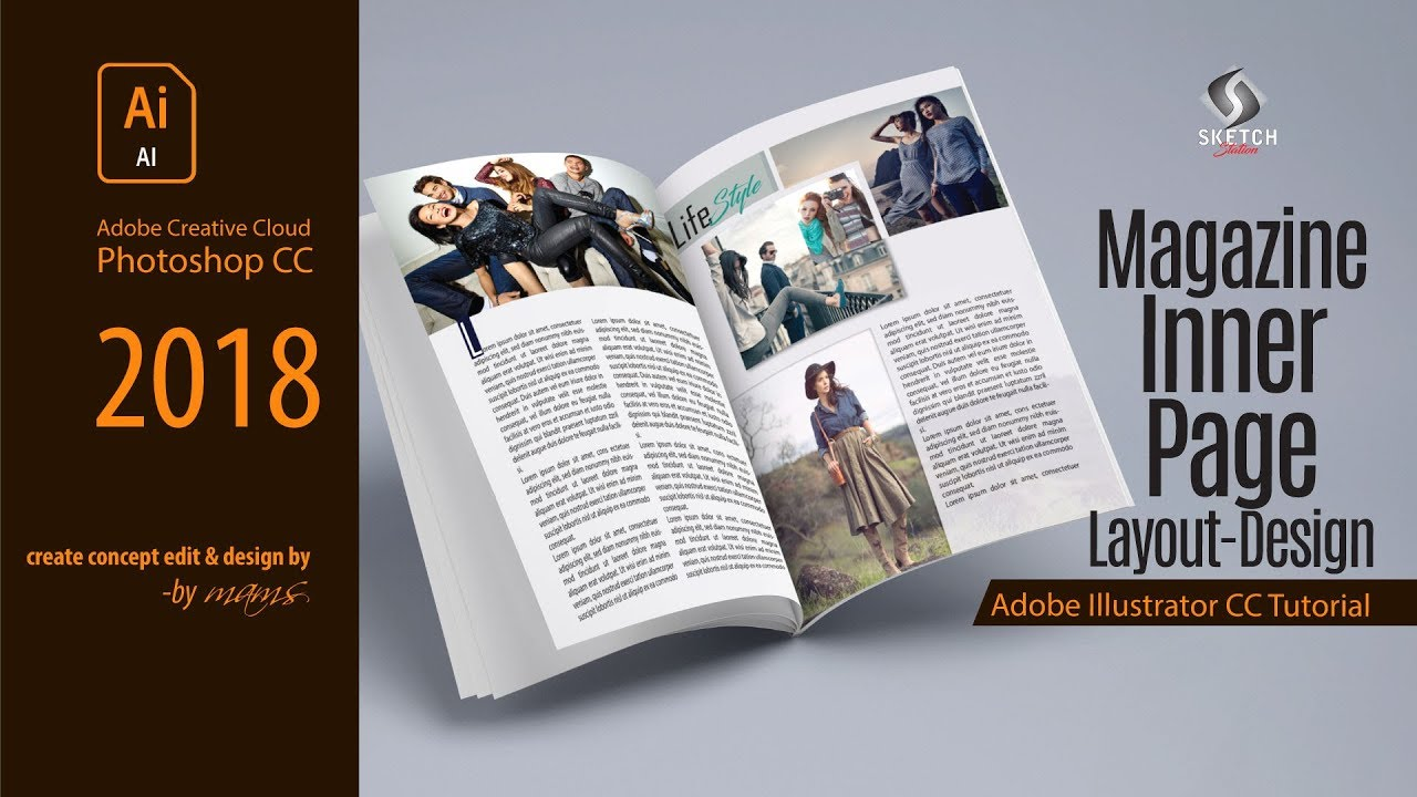 Magazine Layout Design In Illustrator Cc I Sketch Station