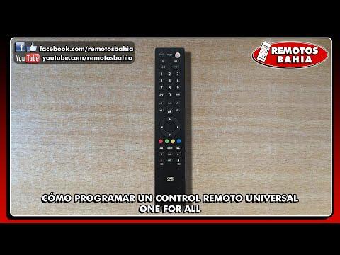 CÓMO PROGRAMAR CONFIGURAR CONTROL REMOTO UNIVERSAL ONE FOR ALL TODOS LOS MODELOS PROGRAMMING FOR TV