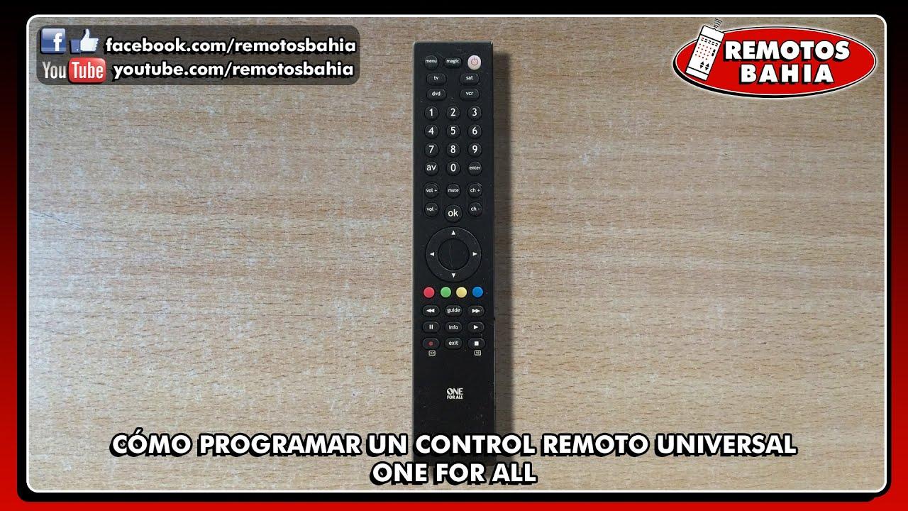 C 211 Mo Programar Configurar Un Control Remoto Universal One
