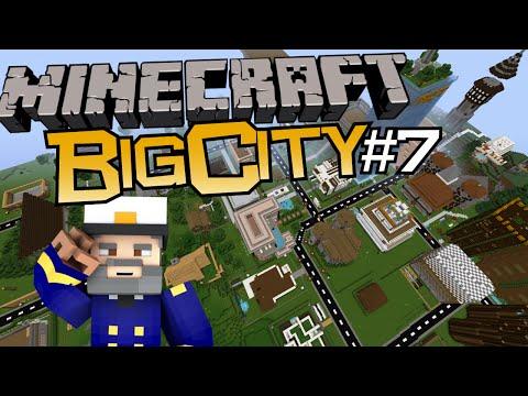 Let's Show Minecraft BigCity mit dem Mr.Captain Tower und dem Überflug über die Stadt