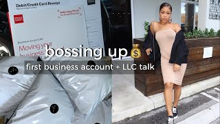 A DAY IN THE LIFE OF AN ENTREPRENEUR [ opening my 1st business account  + should you start an LLC ]
