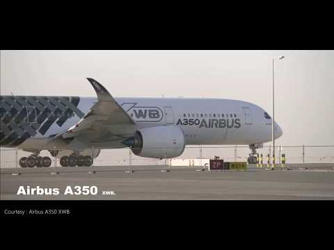 Airbus A350 XWB Magnificent performance at Dubai Airshow