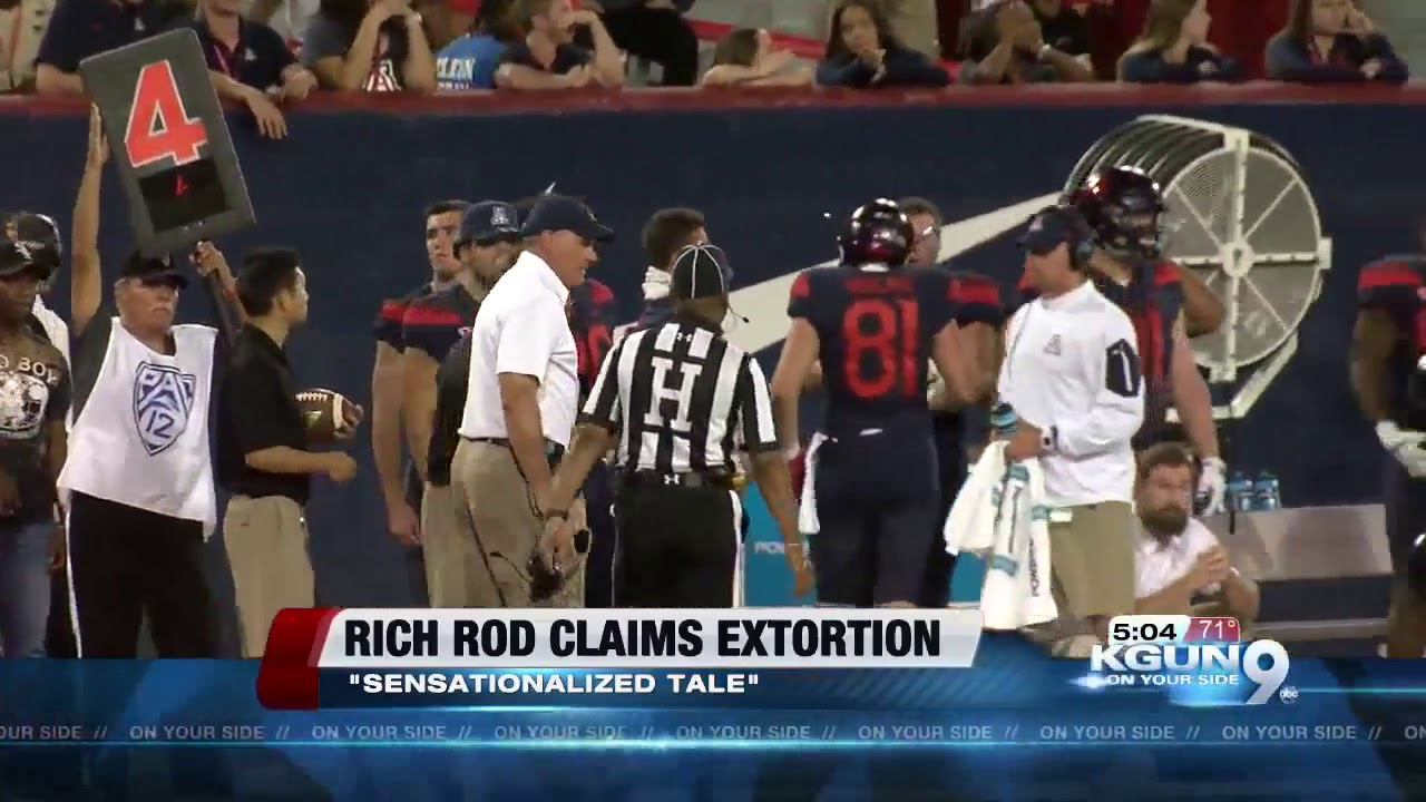Former Arizona coach Rich Rodriguez claims extortion by former aide
