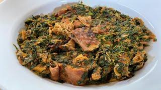 How to make Efo Riro  Nigerian vegetable soup  Nigerian Cuisine