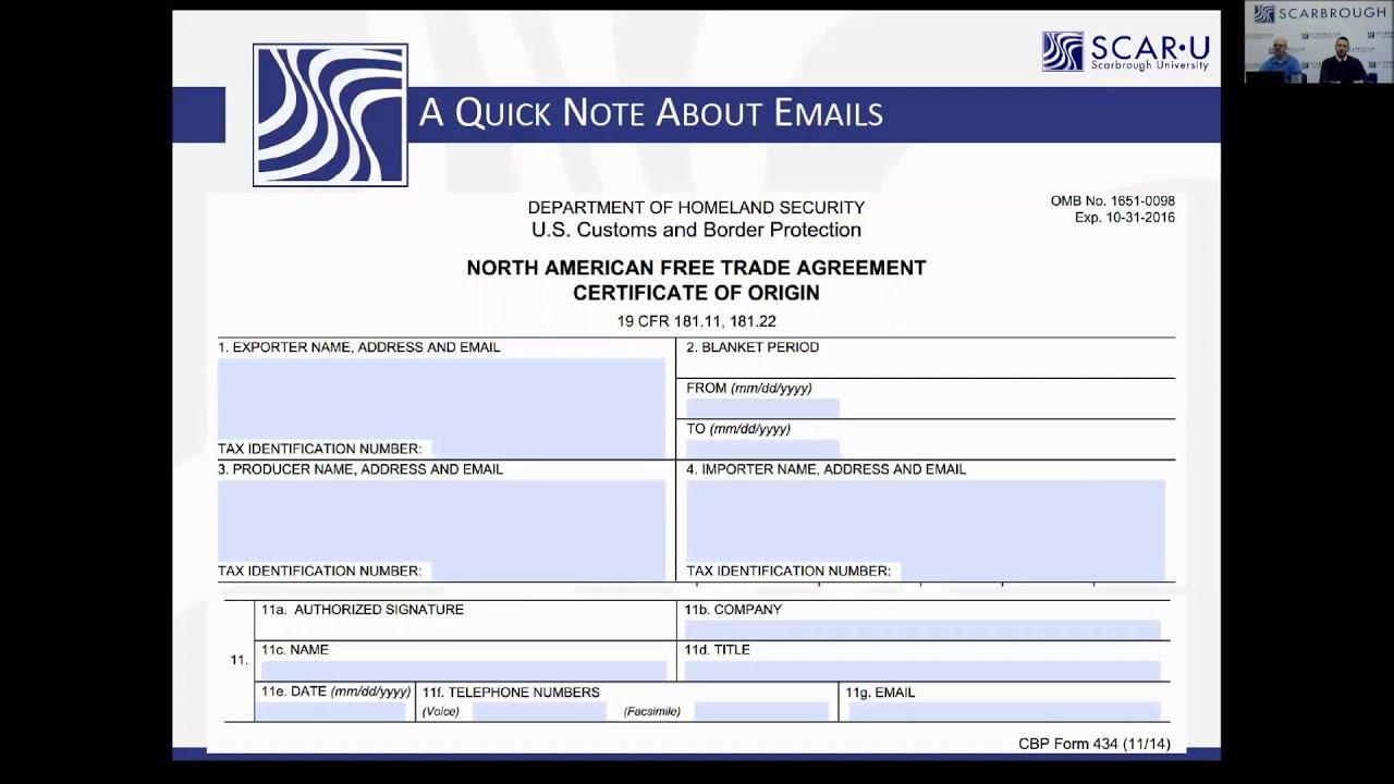 Nafta certificate of origin and mexico shipping process whose nafta certificate of origin and mexico shipping process whose email xflitez Gallery